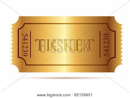 Cinema tickets. Admit one. Vector illustration