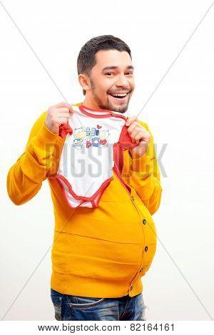 Conceptual image of a pregnant man