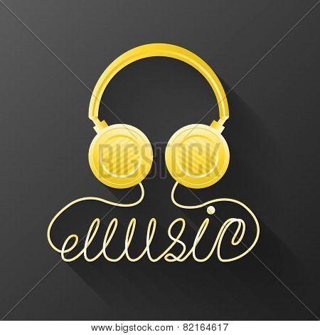 Music Gold Headphones.