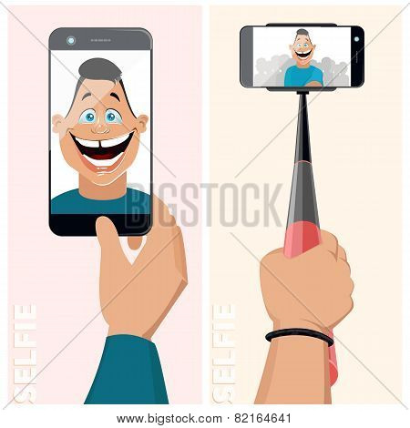 Monopod Selfie Men