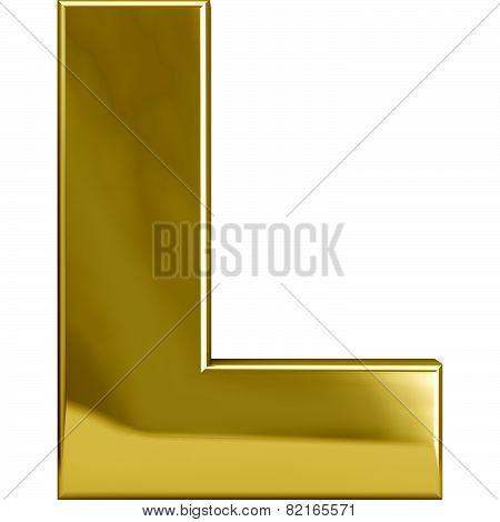 Gold Metal Letter L