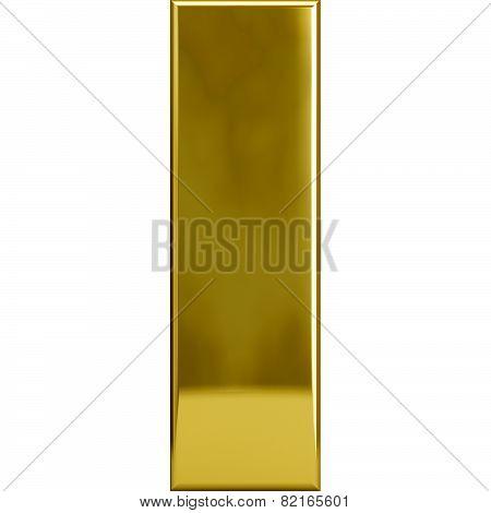 Gold Metal Letter I