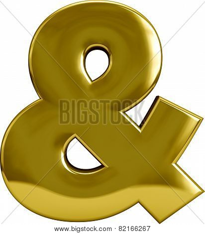 Gold Ampersand - &