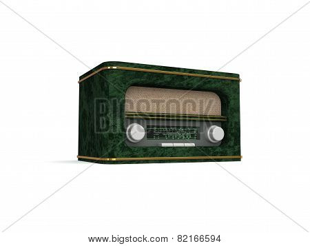 Retro radio 3d image