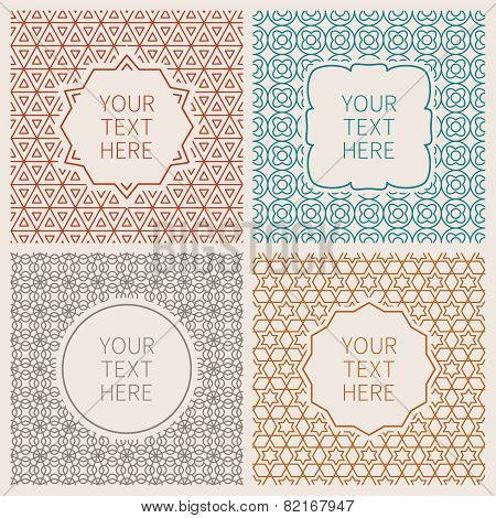 Vector Outline Hipster Design Templates