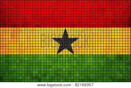 Abstract Mosaic Flag of Ghana