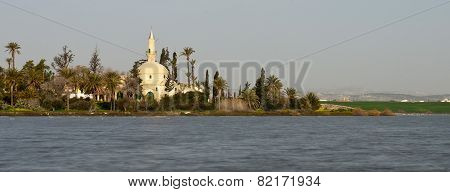 Muslim Mosque Of Hala Sultan Tekke In Larnaca, Cyprus