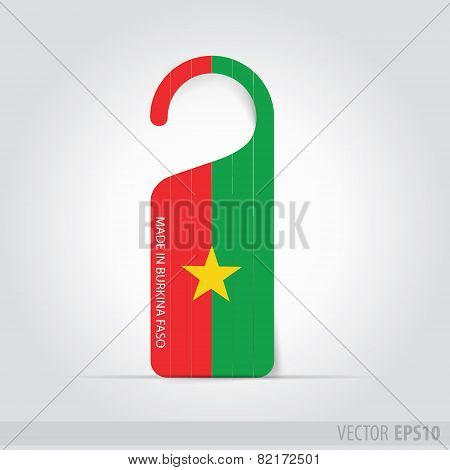 Made In Burkina Faso   Tag For Door