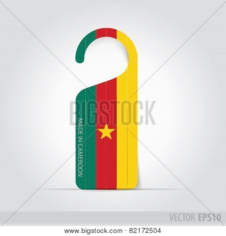 Made In Cameroon  Tag For Door