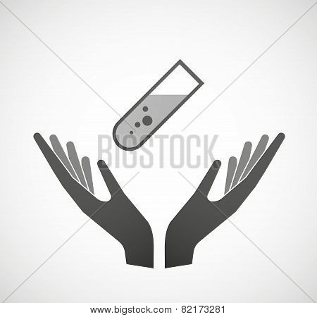 Two Hands Offering An Antenna