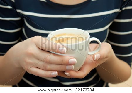 Cup Of Coffee In Hand