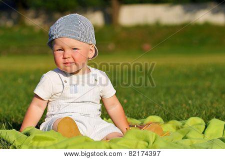 Little Boy Portrait Outdoor