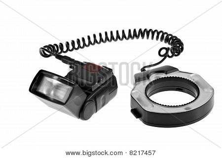 Camera Flash With Ring Flash