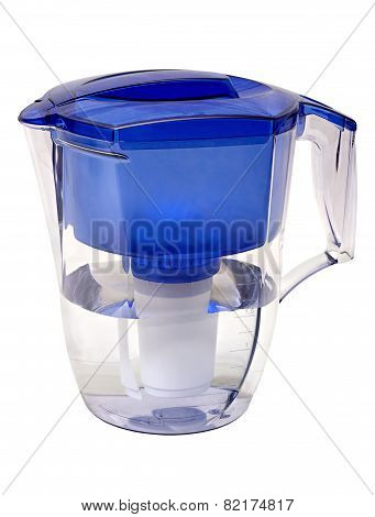 Water Filter In The Form Of A Plastic Jug