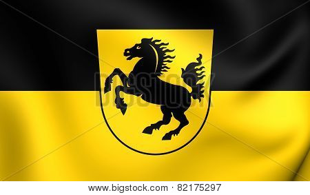 Flag Of Stuttgart, Germany.