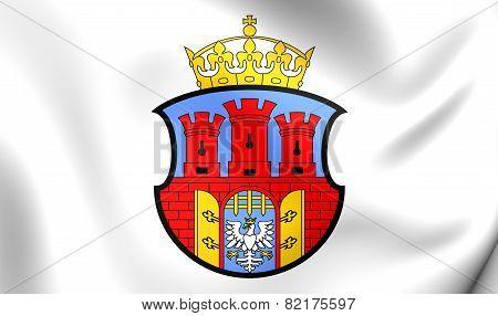 Flag Of Krakow, Poland.