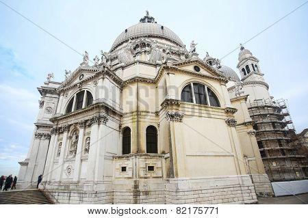 Low Angle View Of Santa Maria Della Salute In Italy
