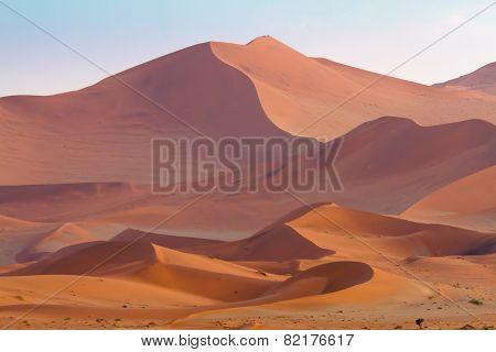 Vast desert landscape of Sossusvlei