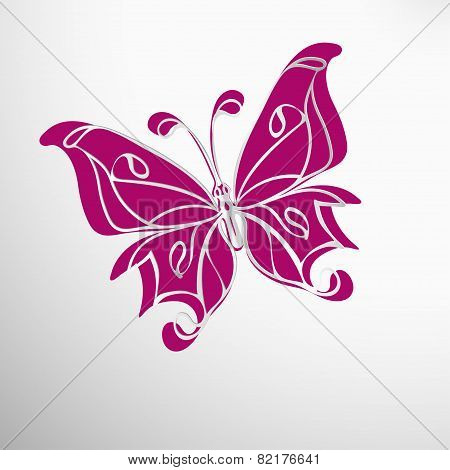 Lace Butterfly Cut Out Of Paper