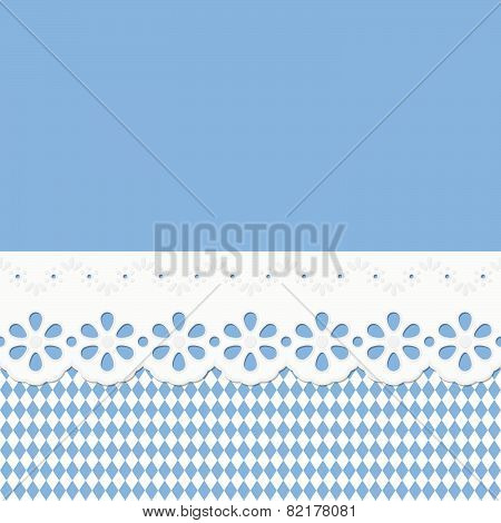 Oktoberfest Background Seamless With Festoon