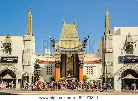 Chinese Theatre In Hollywood Boulevard, Los Angeles