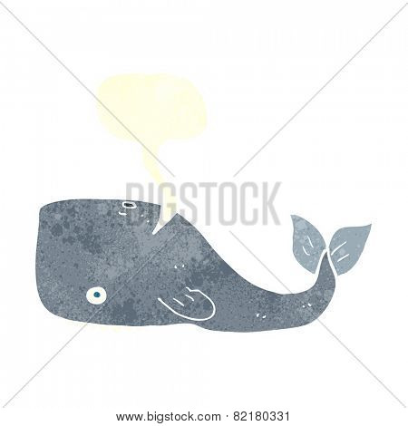 cartoon whale with speech bubble