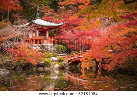 Daigoji Temple In Maple Trees, Momiji Season, Kyoto, Japan