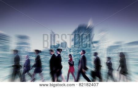 Business People Commuter Cityscape Team Concept