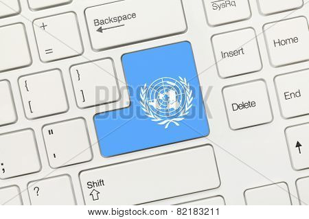 White Conceptual Keyboard - United Nations (key With Flag)
