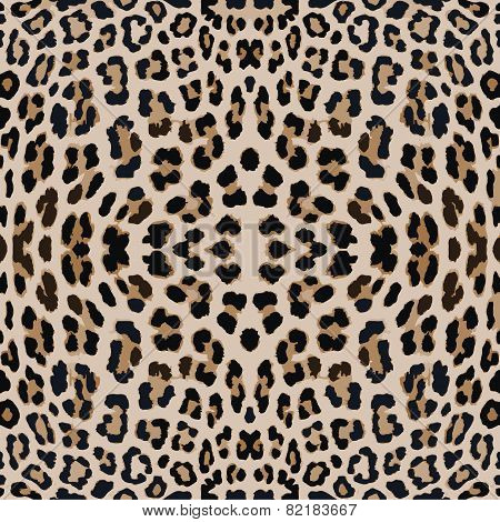 Leopard seamless background.
