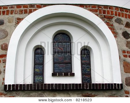 Arched Window Of Medieval Church