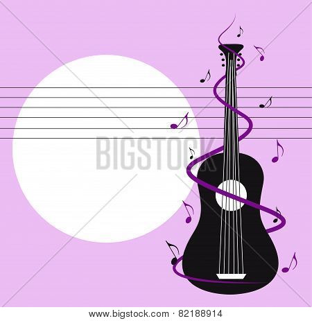 Card With Guitar