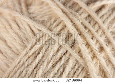 wool yarn clew macro