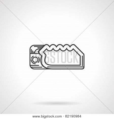 Climbing device flat line vector icon