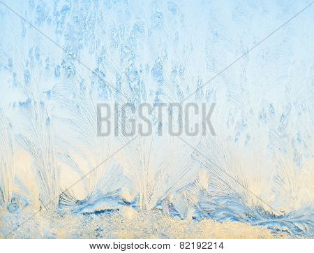 Frost Patterns On Glass.