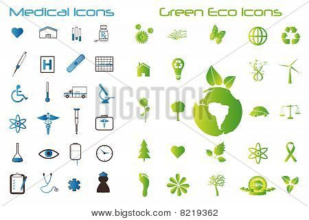 Medical And Green Icons