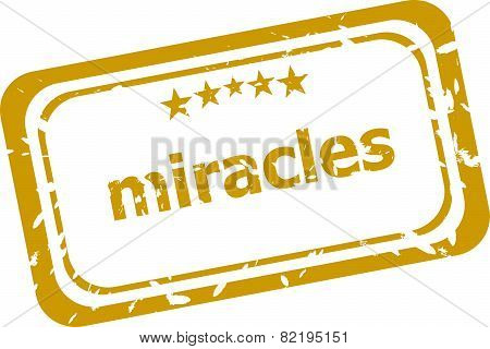Miracles Stamp Isolated On White Background