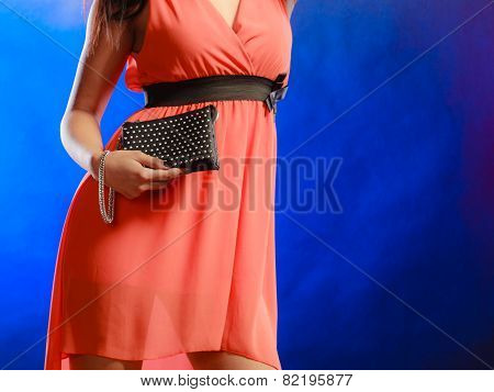 Evening Handbag In Woman Hand