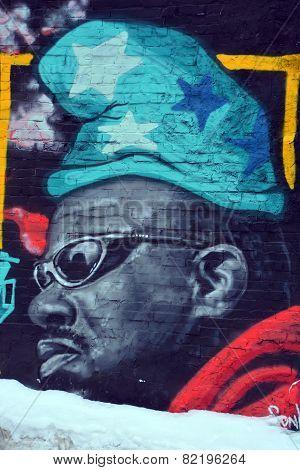 Street art Montreal black man