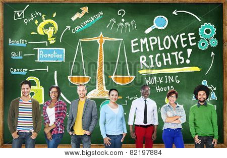 Employee Rights Employment Equality Job Education Learning Concept
