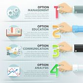 pic of web template  - Business hands teamwork infographics template - JPG