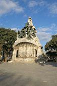 picture of gaudi barcelona  - Memorial for Bartomeu Robert Tetuan Square Barcelona  - JPG