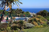 pic of st ives  - The swimming pool in Tragenna Gardens in St Ives Cornwall England - JPG