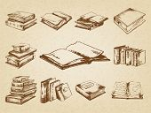 stock photo of sketch book  - Books set - JPG