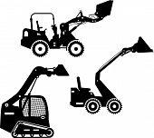 foto of skid-steer  - Detailed illustration of skid steer loaders - JPG