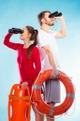 stock photo of save water  - Accident prevention and water rescue - JPG