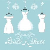 pic of short skirt  - The composition of  three bridal dresses with short skirt - JPG