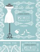 image of dress mannequin  - Bridal shower invitation set - JPG
