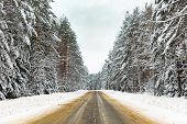 stock photo of curvy  - Winter Driving  - JPG