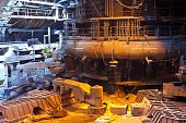 foto of blast-furnace  - Interior of blast furnace workshop of metallurgical plant - JPG